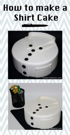 SHIRT CAKE with full tutorial. Great for Father's day or birthday parties for guys. From cakewhiz.com