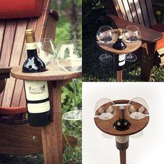 WEBSTA @ adirondack.com.ru - Раскладной столик для пикника для двух бокалов и бутылки вина.adirondack.com.ru, #патио #столик #пикник #отдых #бокал #дача#сад#свидание #романтика #дуб#отдыхаемхорошо#загородом