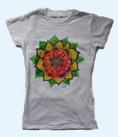 Mandala shirt Hand painted mandala shirtSpring by WearBeauty