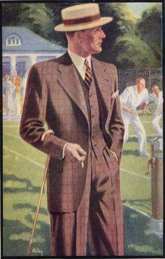 schwingheil: Montague Burton, 1934. 3 piece for Polonius/CB no hat