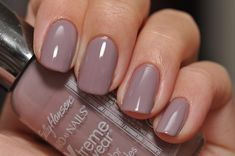 Sally Hansen Xtreme Concrete - neutral muted purple beige nails for #fall