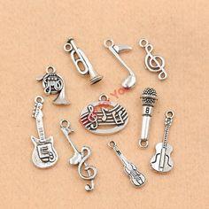 Cheap Misto argento tibetano placcato nota musicale chitarra tromba nastro pendenti di fascini monili che fanno accessori fai da te m049, Compro Qualità Charms direttamente da fornitori della Cina:  Tibetan Silver Plated Round Photo Frame 1-1 Connectors Jewelry Accessories DIY Jewelry Findings 18x12mmUSD 2.99/lotAnti