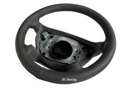 Para-Toyota-4runner-85-98-Nuevo-Real-Gris-Oscuro-Italian-Leather-cubierta-del-volante