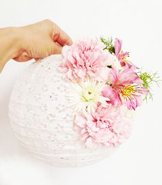 DIY Floral Paper Lantern