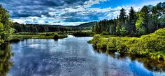 #ADK #Adirondacks #OldForge - The Scenic Moose River - Old Forge, New York