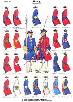 French; Foreign Regiments in the French Line(Swiss, German, Irish, Wallon & Corsican), 1736
