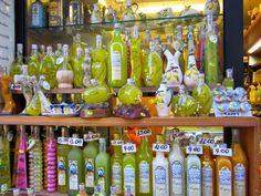Limoncello lemon liqueur, Capri http://destinationfiction.blogspot.ca/2014/12/posh-capri-town.html