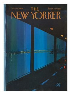 I really like Arthur Getz's covers for The New Yorker.