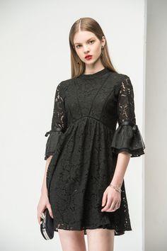 #AdoreWe Few Moda, Minimalistic Fashion Brands Online - Designer Few Moda Skater Lace Dress DR1447 - AdoreWe.com
