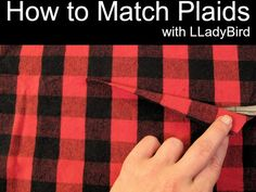 Matching plaids can be tricky. Learn how to match plaids along seam lines to help you create a professional finish with this simple tutorial.
