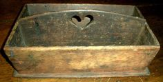 Antique Early 1800s Primitive Folk Art Carved Heart Tray Box     | eBay  sold   203.00     ~♥~