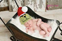 grinch newborn baby picture