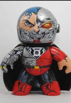 Custom Cyborg Superman Mighty Mugg OOAK DC Villain Blackest Night