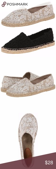 Wild Pair WHITE Espadrilles 6M Cute, comfortable spring and summer espadrille flats by Wild Pair. These shoes are made of lace covered sturdy cotton fabric and are available in size 7M in Black and size 6 in White. New, in box.  >> 10% OFF if you buy 2 Pairs! << Add to a BUNDLE  4x4x8 161214-800-SU3B Wild Pair Shoes Espadrilles