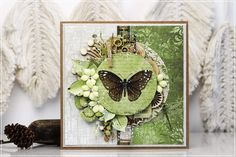 Pretty Cards, Cute Cards, Butterfly Cards, Decoration, Mini Albums, Shabby Chic, Stamp, Wreaths, Butterflies