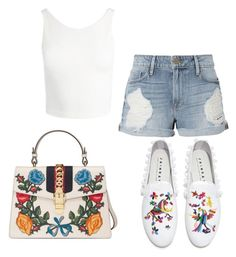 """""""Untitled #45"""" by jaasmina-86 ❤ liked on Polyvore featuring Frame, Joshua's, Gucci and Sans Souci"""