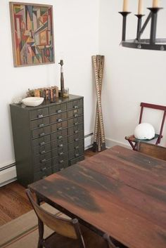 Card catalog shelves. But what would you put in them? They're so small!