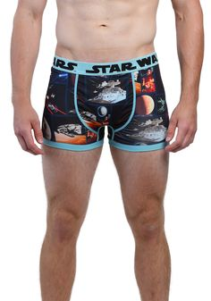 Star Wars Space Scene Mens Boxer Briefs