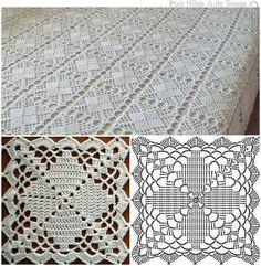 Copriletto a mattonelle