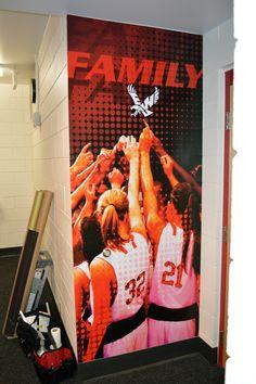EWU Women's Basketball Locker Room