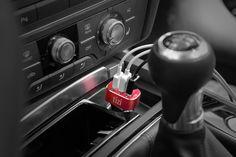 tizi Turbolader 3x MEGA plugged in an Audi A6 cockpit