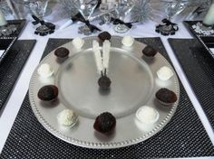 Truffle clock with rock candy hands