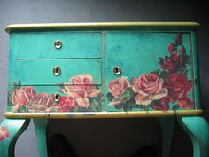 Decoupage furniture by swamp dragon, via Flickr