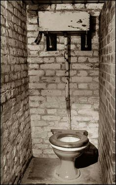 I know this is an old picture from England, but I can promise you --- this is exactly what our w.c. looked like in Kremenchug in 2001 - minus the toilet seat.