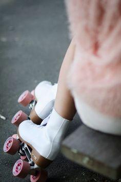 roller skates + pink