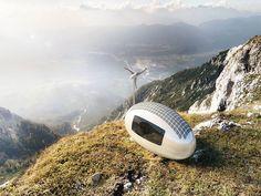 Ecocapsules, casas en miniatura que incorpora energía solar y eólica