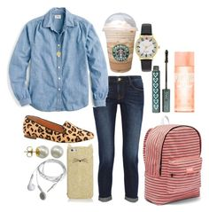 """""""Choir is my thing"""" by ava-navarrrroo ❤ liked on Polyvore featuring J.Crew, Frame, Orit Elhanati, Majorica, Kate Spade and Victoria's Secret PINK"""
