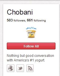 Chobani IS ON PINTEREST!! @Leah Bouillon