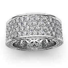 Danhov Wide Pave Diamond Band | Diamond bands, Capri and Diamond