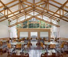 I want to eat here. Branson School student commons by Turbull Griffin Haesloop Architects