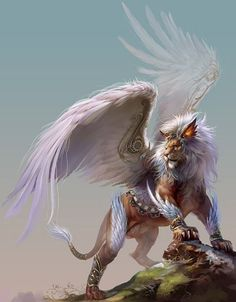 Winged Lion by Yu Cheng Hong