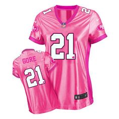 Frank Gore Elite Jersey-80%OFF Nike Be Luv'd Frank Gore Elite Jersey at 49ers Shop. (Elite Nike Women's Frank Gore Pink Jersey) San Francisco 49ers #21 NFL New Be Luv'd Easy Returns.