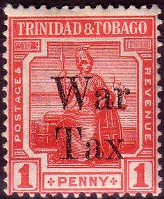 Trinidad and Tobago 1918 WAR TAX Overprint SG 188 Fine Mint Scott MR13 Other West Indies and British Commonwealth Stamps HERE!