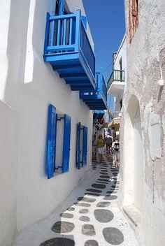 Mykonos Street by atcshep, via Flickr