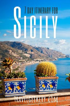 Check out my 1 week itinerary for Sicily Italy, mainly the East and Southeast. Covering the most beautiful places in Sicily such as Taormina, Syracuse, Catania, and of course Mount Etna and the beach! Sicily Italy things to do on a weeklong trip. Travel to Sicily and get inspired by this itinerary. #itinerary #sicily #italy #travelgeekery European Travel Tips, Italy Travel Tips, Europe Travel Guide, European Destination, Travel Plan, Travel Advice, Travel Ideas, Beautiful Places To Visit, Cool Places To Visit