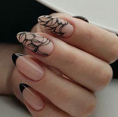 french nails with diamonds Nailart French Nails Glitter, French Nail Art, French Tip Nails, French Manicures, Acrylic Nail Shapes, Acrylic Nails, Glitter Acrylics, Nailart, Nagel Hacks