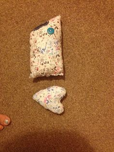 I made a simple shark for Harry and a simple heart for Esme.