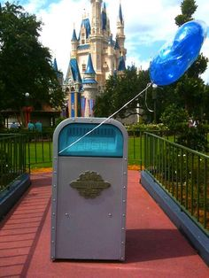 PUSH the Talking Trash Can.  The most hilarious thing to sit back and watch.  I want to meet PUSH as much as I want to meet Minnie!