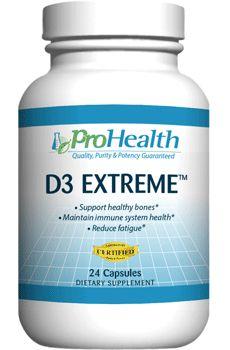 50,000 IU Vitamin D3 - Prescription Strength - ProHealth.com