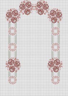 Cross Stitch Borders, Cross Stitch Flowers, Arabesque Pattern, Prayer Rug, Filet Crochet, Blackwork, Embroidery Patterns, Diy Crafts, Hair Style