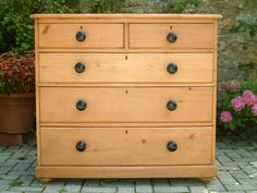 A Restored Late Victorian Pine Chest Of Drawers - Antiques Atlas