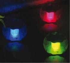 Lámpara solar flotante color para estanques y piscinas