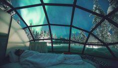Glasiglus in Kakslauttanen, Finnland