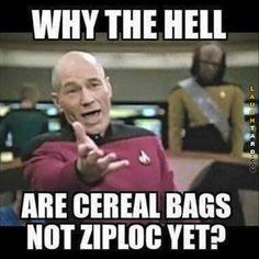 Ziploc cereal  #funnypictures #lmao #hilarious #funnypics #ziploc #cereal #startrek