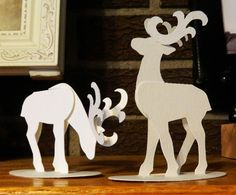 laura's frayed knot: paper reindeer