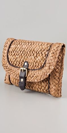 Felix Rey Sardinia Basket Clutch @ shopbop. I think this could be made from woven place mat. Have to try one.
